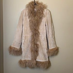 Vintage Marvin Richards fur suede leather coat